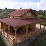 Villa con mansarda e verana