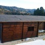 Casa con tettoia. mq. 90,30 + 13,20 tettoia. sp. cm. 4,2