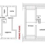 piantina casa mq. 120 su 2 piani